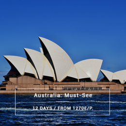 Australia : Must-See - 12 days from 1270£