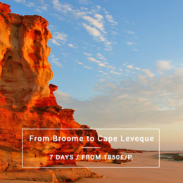 From Broome to Cape Leveque from 1850£