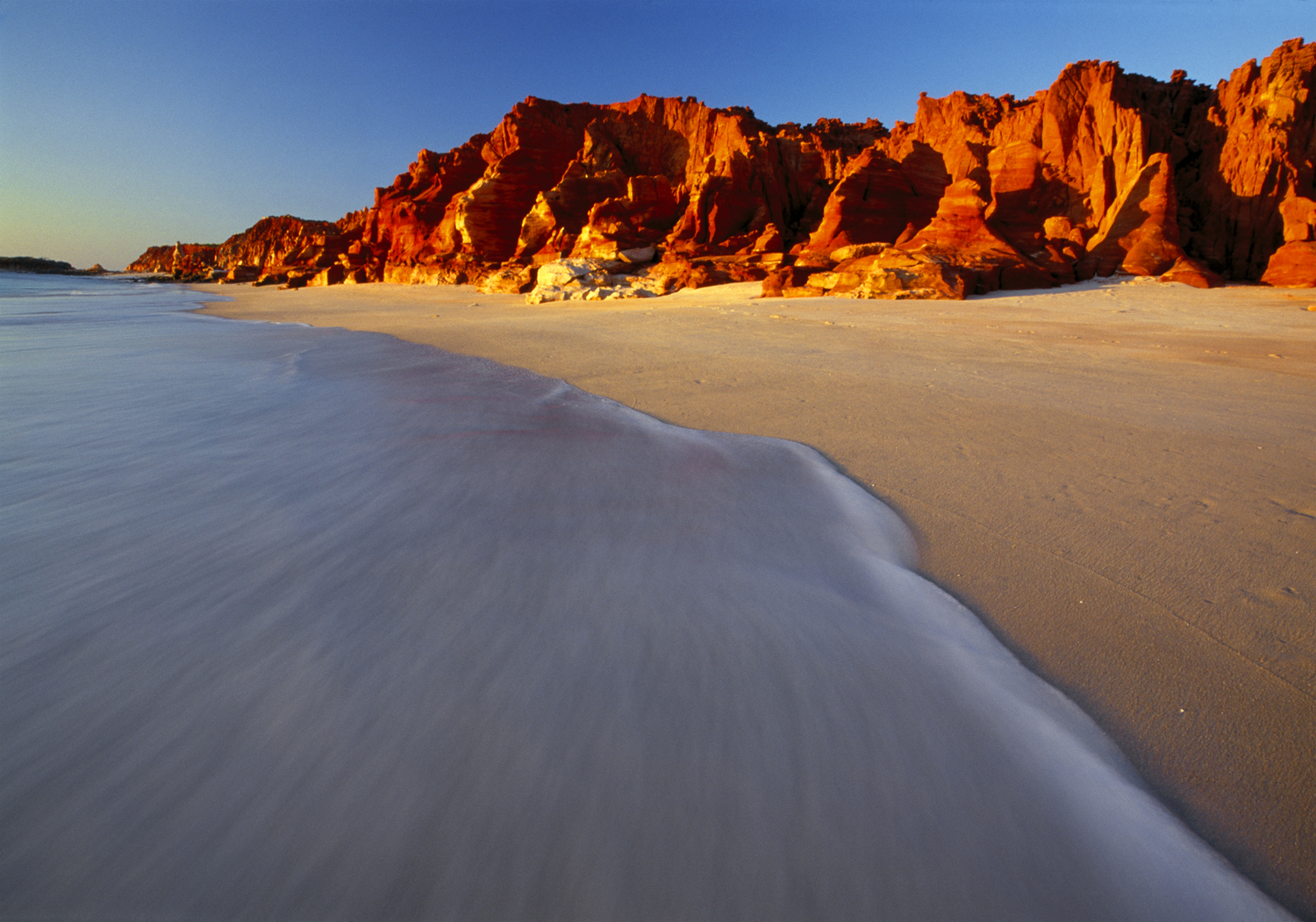Red cliffs in Broome, Australia